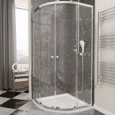 Cali Quatro Quadrant Shower Enclosure 900mm x 900mm - 4mm Glass