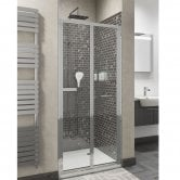 Cali Seis Bi-Fold Shower Door - 800mm Wide - 5mm Glass