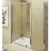 Cali Seis Pivot Shower Door 760mm Wide - 4mm Glass