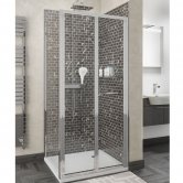 Cali Seis Bi-Fold Door Shower Enclosure 900mm x 700mm - 5mm Glass