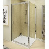 Cali Seis Pivot Door Shower Enclosure 900mm x 900mm - 6mm Glass