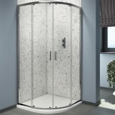 Cali Seis Quadrant Shower Enclosure - 800mm x 800mm - 6mm Glass