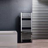 Cali Talon Straight Heated Towel Rail 1200mm H x 500mm W Chrome