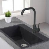Cali Classic Mono Kitchen Sink Mixer Tap - Black