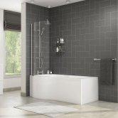 Cali Tempest P-Shaped Shower Bath 1500mm x 700mm/850mm Left Handed