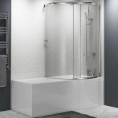 Cali Tempest P-Shaped Shower Bath Enclosure 1700mm X 700mm/850mm Right Handed, Panel and Screen