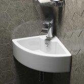 Cali Vessel Corner Cloakroom Basin - 330mm Wide - 1 Tap Hole