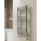 Cali York Flat Heated Towel Rail 800mm H x 400mm W Chrome