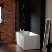 Carron Profile 1600mm x 700mm Plain Bath 5mm Acrylic - White