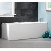 Carron Quantum Integra Rectangular Bath with Grips 1600mm x 700mm 5mm - Acrylic