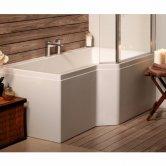 Carron Urban Edge 1575mm x 700mm/850mm Shower Bath RH 5mm Acrylic - White