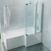 Cleargreen Ecosquare Shower Bath 1700mm x 850mm/700mm - Right Handed