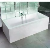 Cleargreen Enviro Rectangular Double Ended Bath 1800mm x 800mm - White