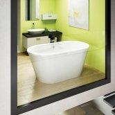 Cleargreen Nouveau Petite Freestanding Bath 1500mm x 800mm - White