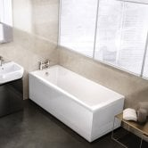 Cleargreen Sustain Rectangular Single Ended Bath 1800mm x 800mm - White
