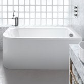 Cleargreen Viride Offset Rectangular Single Ended Bath 1800mm x 750mm - Right Handed