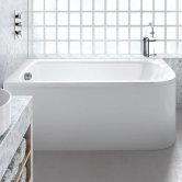 Cleargreen Viride Offset Rectangular Single Ended Bath 1800mm x 750mm - Left Handed