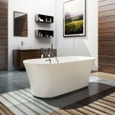 Clearwater Armonia Freestanding Bath 1550mm x 750mm - Natural Stone