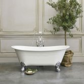 Clearwater Batello Grande Traditional Freestanding Bath 1690mm x 800mm - Clear Stone