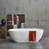 Clearwater Formoso Grande Clear Stone Freestanding Bath 1690mm x 800mm - Gloss White