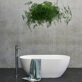 Clearwater Formoso Petite Freestanding Bath 1500mm x 800mm - Clear Stone