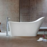 Clearwater Nebbia Freestanding Slipper Bath 1600mm x 800mm - Natural Stone