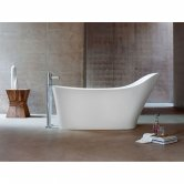 Clearwater Nebbia Freestanding Slipper Bath 1600mm x 800mm - Natural Stone