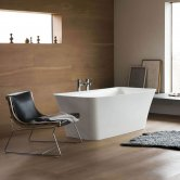 Clearwater Palermo Petite Freestanding Bath 1524mm x 750mm - Clear Stone