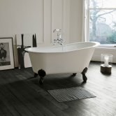 Clearwater Romano Petite Traditional Freestanding Slipper Bath 1524mm x 787mm - Clear Stone