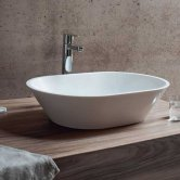 Clearwater Sontuoso Natural Stone Sit-On Countertop Basin 590mm Wide - 0 Tap Hole