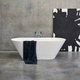 Clearwater Sontuoso Freestanding Bath 1690mm x 700mm - Clear Stone
