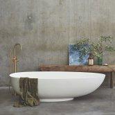 Clearwater Teardrop Grande Freestanding Bath 1910mm x 820mm - Clear Stone