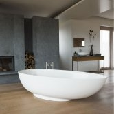 Clearwater Teardrop Grande Freestanding Bath 1910mm x 820mm - Clear Stone
