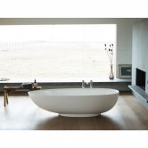 Clearwater Teardrop Petite Freestanding Bath 1690mm x 820mm - Clear Stone