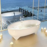 Clearwater Vigore Freestanding Bath 1700mm x 750mm - Natural Stone