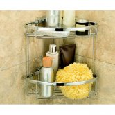 Coram Boston Large Double Corner Shower Basket with Concealed Fixing - Chrome