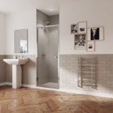 Coram GB 5 Chrome Pivot Shower Door 800mm Wide - 5mm Plain Glass