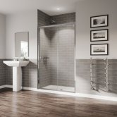 Coram GB 5 Sliding Shower Door 1200mm Wide - 5mm Plain Glass
