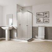 Coram GB 5 Chrome Corner Entry Shower Enclosure 760mm x 760mm - 5mm Glass