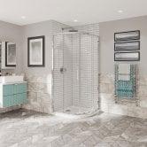 Coram Optima 6 Chrome Offset Quadrant Shower Enclosure 1000mm x 800mm - 6mm Plain Glass