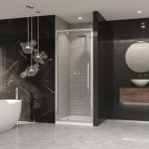 Coram Premier 8 Pivot Shower Door 760mm Wide - 8mm Plain Glass