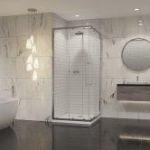 Coram Premier 8 Chrome Corner Entry Shower Enclosure 800mm x 800mm - 8mm Plain Glass