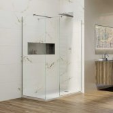 Coram Premier 8 Wet Room Glass Panel 1200mm Wide - 8mm Glass