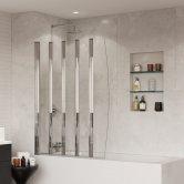 Coram Four Folding Bath Screen 1400mm H x 865mm W - 4mm Glass
