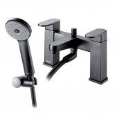 Deva Amio Bath Shower Mixer Tap Pillar Mounted - Matte Black