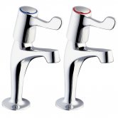 Deva Kitchen Sink Taps, 3 Inch Lever Handles, Pair, Chrome