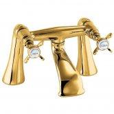 Deva Coronation Pillar Mounted Bath Filler Tap - Gold