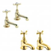 Deva Coronation Basin Taps and Bath Taps, Gold