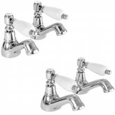 Deva Georgian Basin Taps and Bath Taps, Chrome