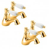 Deva Georgian Basin Taps and Bath Taps, Gold